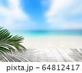 背景-夏-海-ビーチ-風景-イメージ 64812417