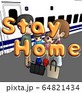 新型コロナ対策 Stay Home 64821434