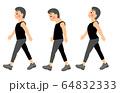 正しい歩き方 姿勢 男性 64832333