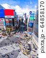 《東京都》渋谷駅前・スクランブル交差点 64858170