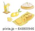 レモネードとレモンのスイーツ 64860946