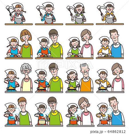 子供と料理 64862812