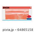 ベーコン 食材 加工食品 64865158