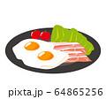 ベーコン 食材 加工食品 目玉焼き 玉子 64865256