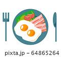 ベーコン 食材 加工食品 目玉焼き 玉子 64865264