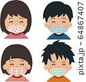 手作りマスク 64867407