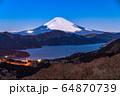 《神奈川県》富士山・箱根大観山からの眺め 64870739