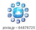 青 アイコンシリーズ 64876725