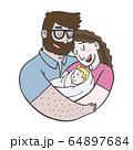Lovely Beautiful Couple Holding Baby 64897684