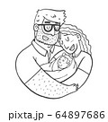 Lovely Beautiful Couple Holding Baby 64897686