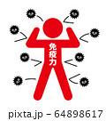 免疫力でウイルスをはね返す 64898617