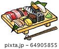 江戸前の寿司 64905855