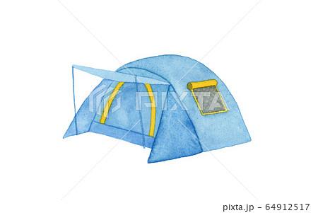 手描き水彩 テント イラスト 64912517