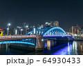 都市風景 駒形橋ライトアップ 64930433