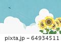 背景-向日葵-空 64934511