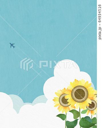 背景-向日葵-空 64934516