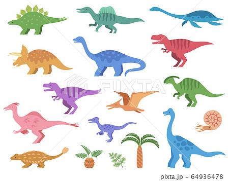 恐竜のイラストアイコンセット 64936478