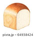 山形食パン 手描き 水彩 64938424