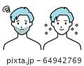 男性 ひげ ビフォーアフター 64942769