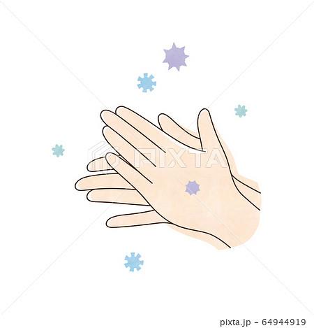 ウィルスと両手 64944919