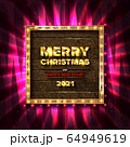Merry Christmas and happy New year 2021 64949619
