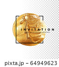 Template for the invitation. 64949623