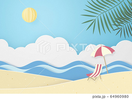 夏のビーチ 64960980