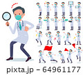 flat type mask Doctor old man_Action 64961177