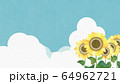 背景-向日葵-空 64962721