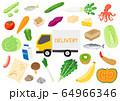 ネットスーパー 食材の宅配 宅配トラック 64966346