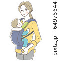 抱っこ紐 親子 困る母親 64975644