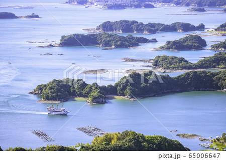 美しい長崎の九十九島を巡る観光船(石岳展望台) 65006647