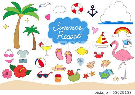 夏のリゾート 海水浴 アイテムセット 65029158