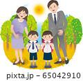 父母と子供たち 秋 行事 65042910