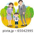 父母と男の子 秋 65042995