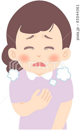 息が苦しい - 軽症者・無症状・自宅待機中の緊急性の高い症状 前兆 兆候 (単品) 65044361