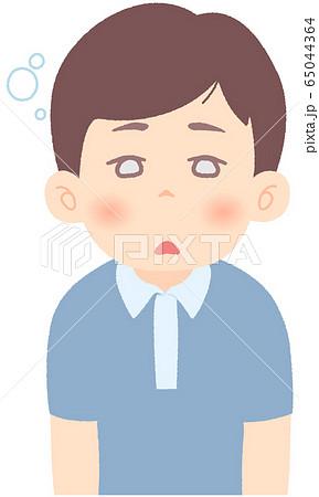 ぼーっとしている、反応が鈍い - 軽症者・無症状・自宅待機中の緊急性の高い症状 前兆 兆候 (単品) 65044364