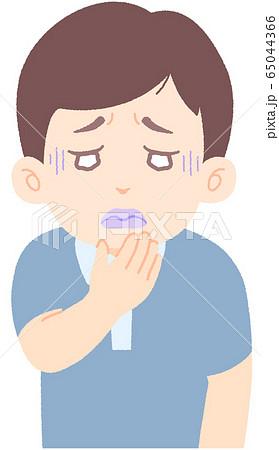 唇が紫色、唇の血色が悪い - 軽症者・無症状・自宅待機中の緊急性の高い症状 前兆 兆候 (単品) 65044366
