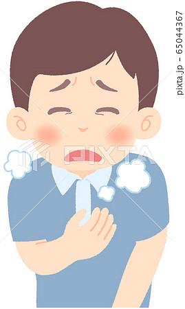 息が苦しい - 軽症者・無症状・自宅待機中の緊急性の高い症状 前兆 兆候 (単品) 65044367