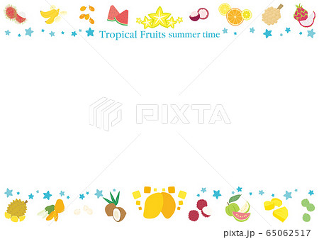 トロピカルフルーツのフレーム 65062517