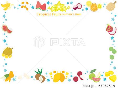 トロピカルフルーツのフレーム 65062519