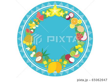 トロピカルフルーツのフレーム 円形 65062647