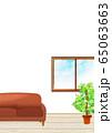 バーチャル背景  リモート会議 窓 部屋 窓辺 65063663