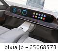 高速道路走行中のステアリングレスEVのイメージ。完全自動運転のコンセプト 65068573