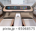 高速道路走行中のステアリングレスEVのイメージ。完全自動運転のコンセプト 65068575