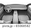 電動スポーツカーのデジタルダッシュボードのクレイレンダリングイメージ。 65068582