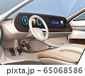 電動スポーツカーのデジタルダッシュボードのイメージ。横長大型スクリーンに多彩な情報が表示されている 65068586