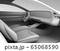 電動スポーツカーのデジタルダッシュボードのクレイレンダリングイメージ。 65068590
