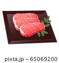 霜降り肉。牛肉、豚肉イラスト 65069200
