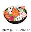 イラスト 海鮮丼 65096142